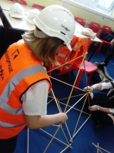 building a giant tetrahedron